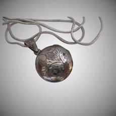 Sterling Silver Etched Locket