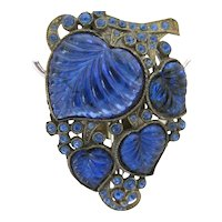 Beautiful Cobalt Blue Glass Dress Clip