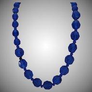 Vintage Royal Blue Crystal Necklace