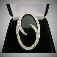 18kt Onyx Diamond Ring