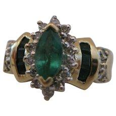 14kt Emerald Diamond Ring