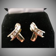 10kt Diamond Ribbon Earrings