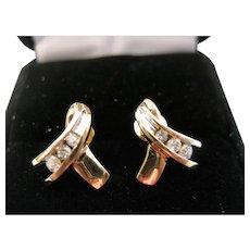 10kt Diamond Ribbon Earrings