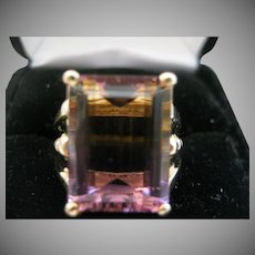 Gorgeous Large Ametrine Emerald Cut 14kt Ring