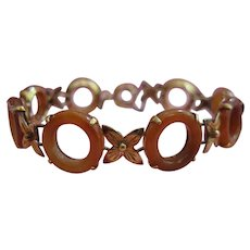Art Deco 18kt Carnelian Bracelet