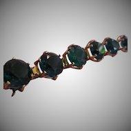 CASTLECLIFF Retro Large Rhinestone Headlight Bracelet
