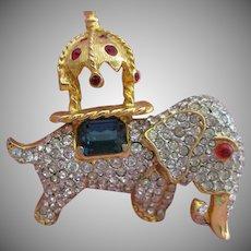Vintage DeNicola Moghul Elephant Brooch