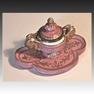 Vieux Paris Hard Paste Inkwell Circa 1810-1820
