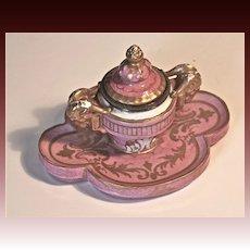 Vieux Paris Hard Paste Inkwell Circa 1810-1820