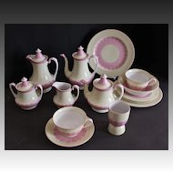 Noritake Porcelain Breakfast/Tea Set  19 pieces  Red Morimura mark, 1930's