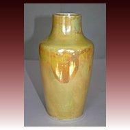 Ruskin Yellow Lustreware Vase, English Arts & Crafts C.1915