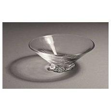 Baccarat Art Deco Style Open Salt, Wave Motif