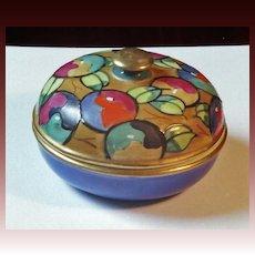 Art Deco Bursley ware Powder Box attributed to Charlotte Rhead