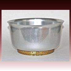 """Lurelle Guild Art Deco """"Coldchester Ice Bowl""""  Kensington Aluminum"""