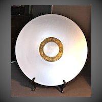 """Lurelle Guild """"Compass Platter"""" for Kensington Aluminum C.1935-1936"""