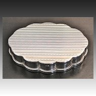 """Volupte Sterling Silver """"Cloud"""" Compact Circa 1940's"""