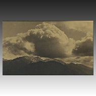"Gelatin Silver Sepia Print ""Strawberry Peak, San Gabriel Mountains"" Circa 1920's"