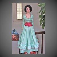 """Liz, a restored 1930's 34"""" Keeneye style boudoir doll"""