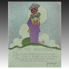 Art Deco Novelty Birthday Card Circa 1932