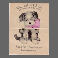 Art Deco Novelty Birthday Card Circa 1932