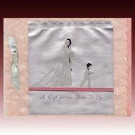 Art Deco Wedding Gift Card Circa 1931