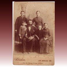 Cabinet Photograph C. 1880 Family Portrait