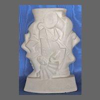 French Art Deco Jazz Vase Artist Signed, 1920's