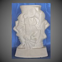 French Art Deco Jazz Vase Artist Signed, 1920's