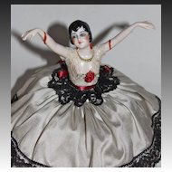 1920's Flapper pincushion doll with legs