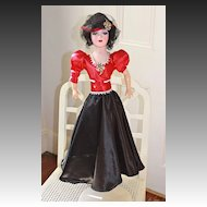Dorothy, a late 1940's refurbished Boudoir Doll.