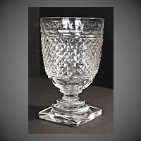 Regency period hand-cut crystal celery vase