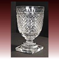 Regency period hand-cut crystal celery vase