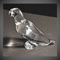 Baccarat Clear Crystal Parrot
