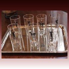 Art Deco Highball Glasses Set of 7