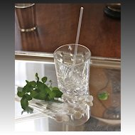 Hand-Blown Art Deco Mint Julep Straws/Stirrers, Set of 8