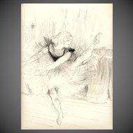 """Henri de Toulouse-Lautrec Lithograph """"Miss Ida Heath, Danseuse Anglaise"""""""
