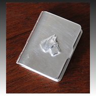 Napier Art Deco Silver-Plated Pill Box
