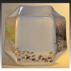 "Haviland and Co. Limoges ""Folded Napkin"" Cabinet Plate"