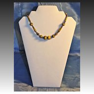 Unusual Art Deco Egyptian Revival Celluloid Choker