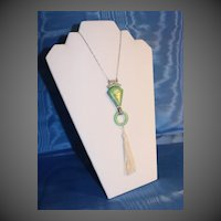 French Art Deco Pendant necklace
