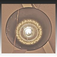 Art Moderne  Sunburst Pan Ceiling Pendant Fixture 1935-1940
