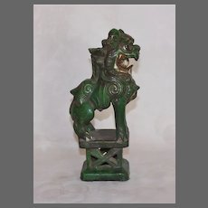 Chinese Sancai Joss Stick Holder Foo Dog