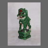 Late 19th early 20th Century Chinese Sancai Joss Stick Holder Foo Dog