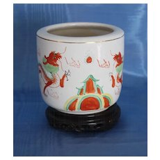 19th C. Chinese Export Brush Pot/Cachepot