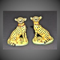 A Pair of Basil Matthews Cheetahs