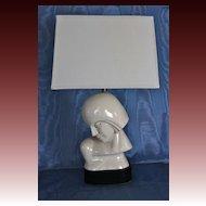 Pair of Monumental American Art Moderne Ceramic Lamps