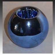 Czech Art Deco Mercury Glass Vase