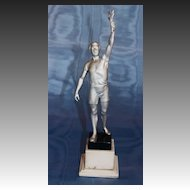 Art Deco Olympiad Statue Olive Branch Bearer