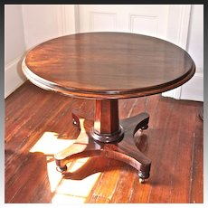 English Regency Mahogany Tilt-Top Pedestal Center/Breakfast Table
