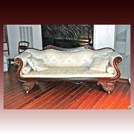 American Empire Classical Diminutive Rosewood Sofa